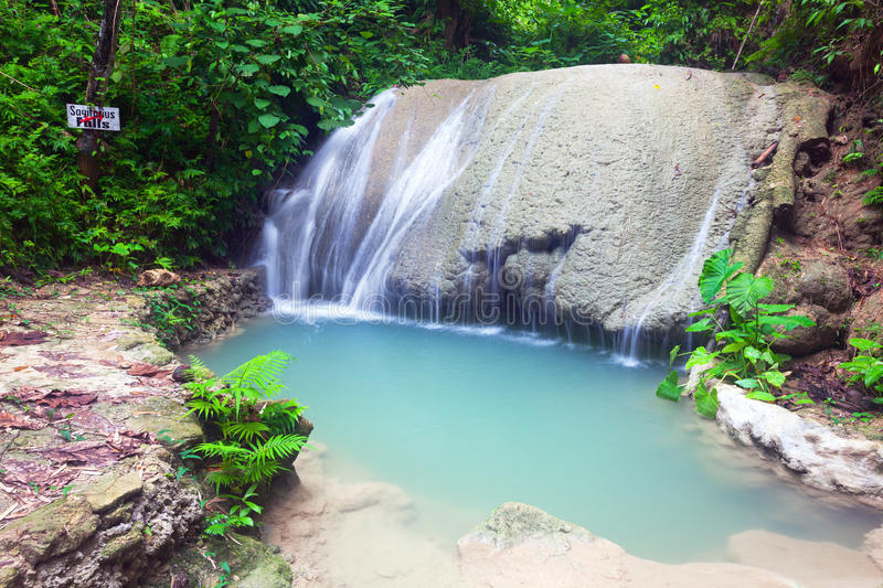 Waterfall of island of Siquijor. Philippines stock image