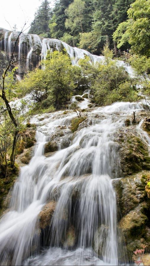 Waterfall in Jiuzhaigou, Sichuan, China stock photography