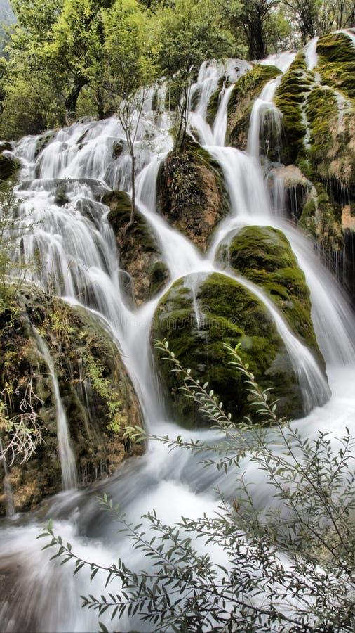 Waterfall in Jiuzhaigou, Sichuan, China royalty free stock image