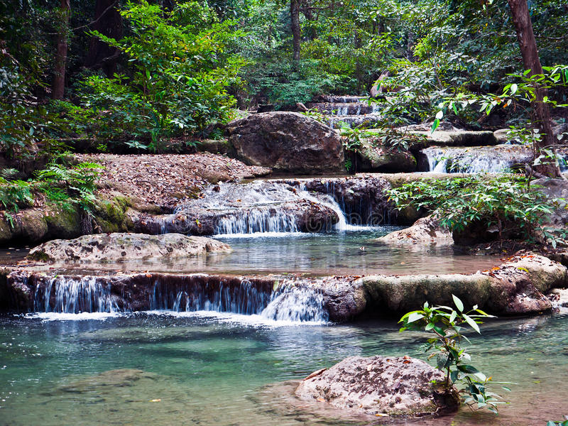Download Waterfall in the jungle stock image. Image of nature - 19420747