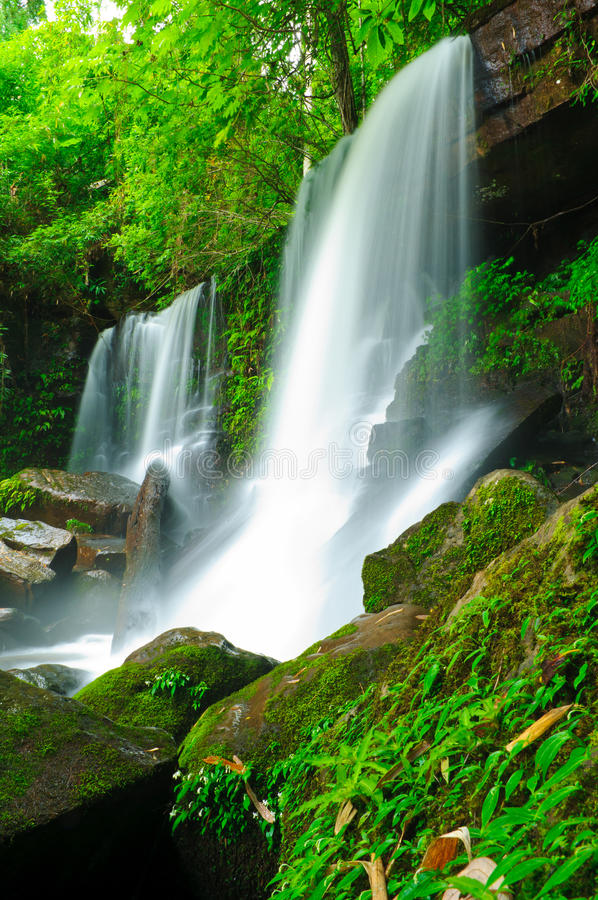 Waterfall in the jungle,Loei,Thailand. Waterfall in the jungle,Loei,northern of Thailand stock images