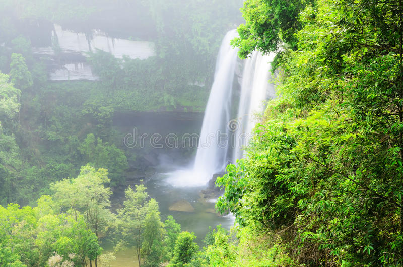 Download Waterfall in the jungle stock photo. Image of blue, peaceful - 32078216