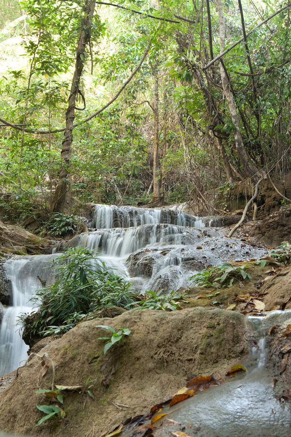 Download Waterfall In Jungle In Thailand Royalty Free Stock Photos - Image: 13130048