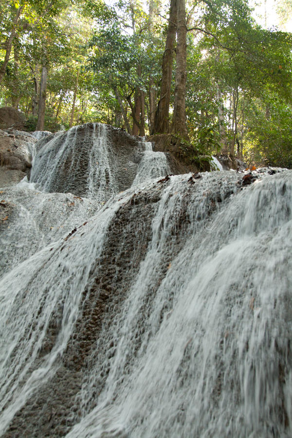 Download Waterfall In Jungle In Thailand Stock Image - Image: 13348191
