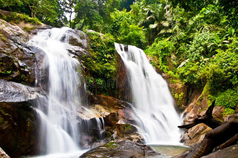 Download Waterfall In The Jungle, Thailand Stock Image - Image: 21939265