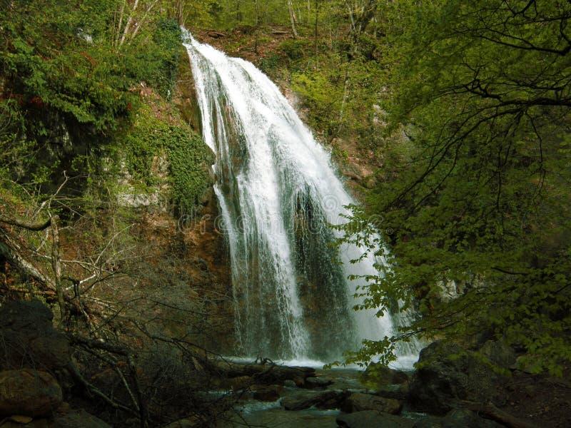 Waterfall Jur-Jur in Cremea. royalty free stock images