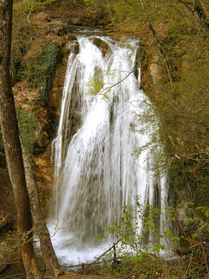 Waterfall Jur-Jur in Cremea. royalty free stock image