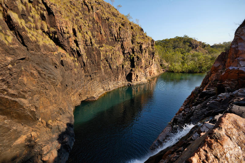 Waterfall in Kakadu. A picture of a waterfall in Kakadu National Park, taken during the dry season stock photography