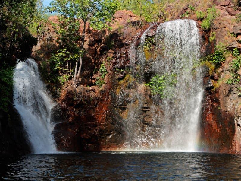 Waterfall, Kakadu National Park. Waterfall and pool with clear water, Kakadu National Park, Northern Territory, Australia royalty free stock photos