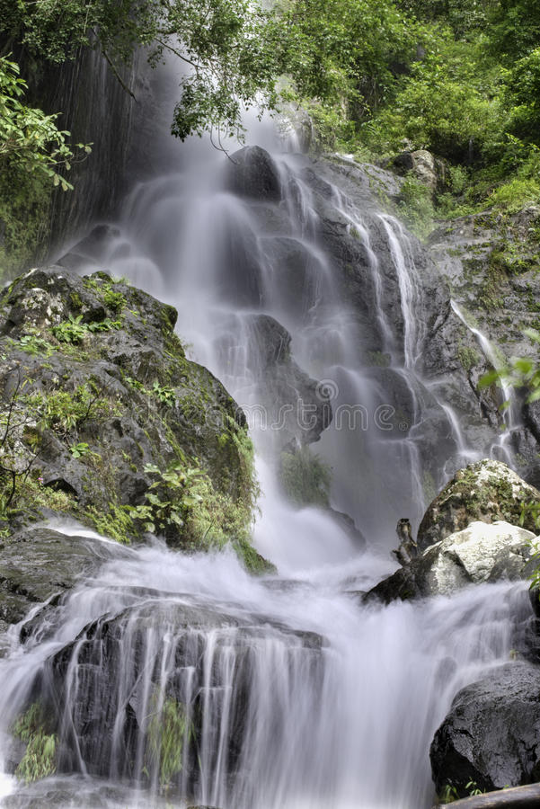 Waterfall in Khao Yai National park royalty free stock photo