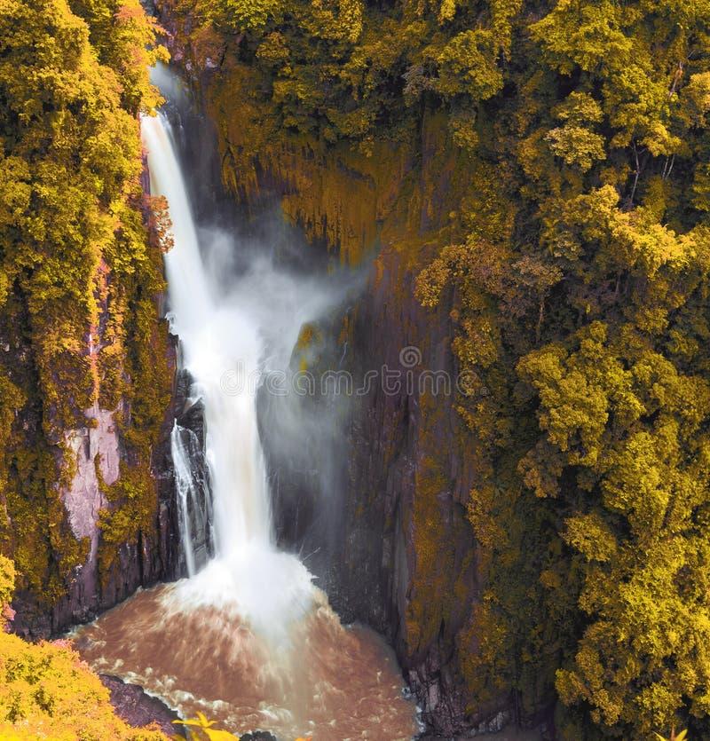 Waterfall in Khao Yai national part of Thailand, Hew n. Beautiful waterfall in Khao Yai national part of Thailand, Hew na rok water fall stock photos