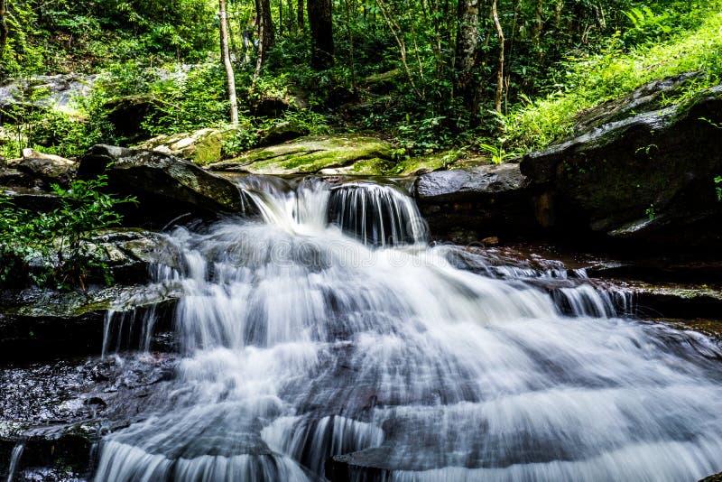 Waterfall, Khum Som Waterfall, Muang District, Sakon Nakhon, Thailand.  royalty free stock photo