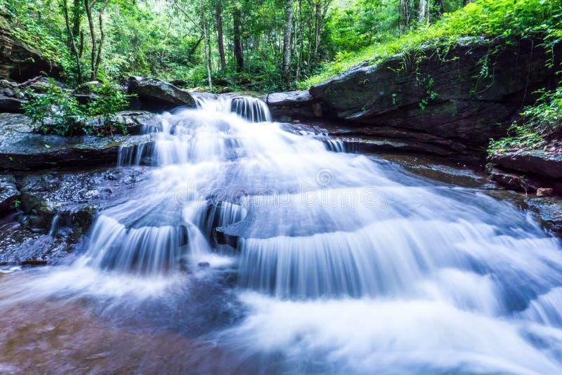 Waterfall, Khum Som Waterfall, Muang District, Sakon Nakhon, Thailand.  royalty free stock photography