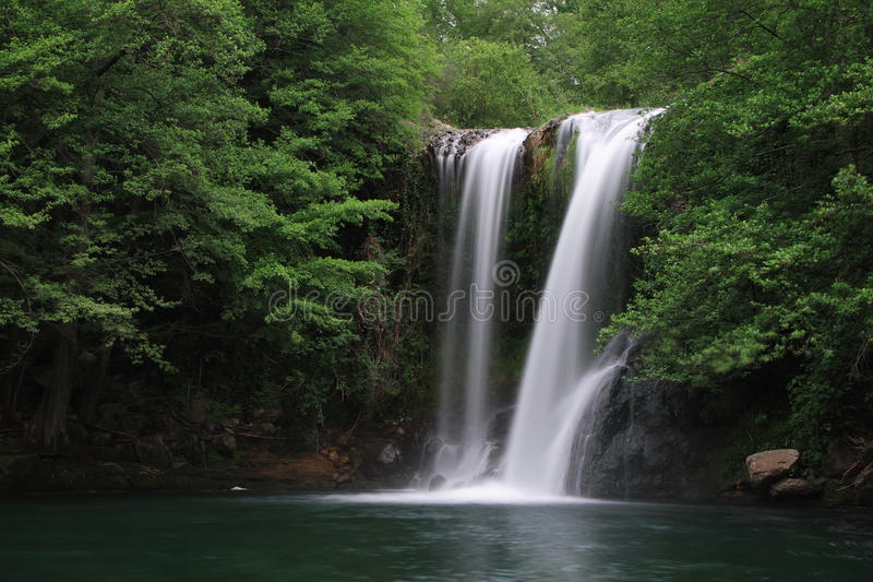 Waterfall known as Santa Margarida stock images
