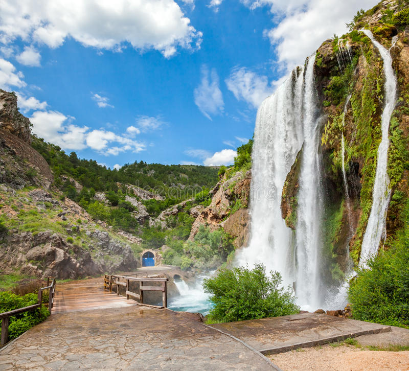 Waterfall Krcic in Knin royalty free stock image