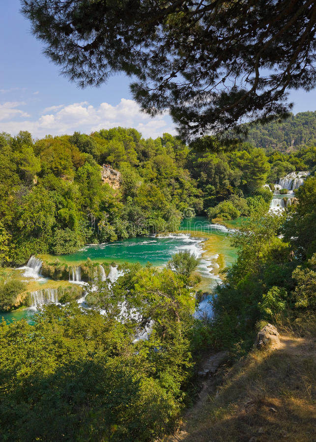 Download Waterfall KRKA in Croatia stock image. Image of forest - 33568227