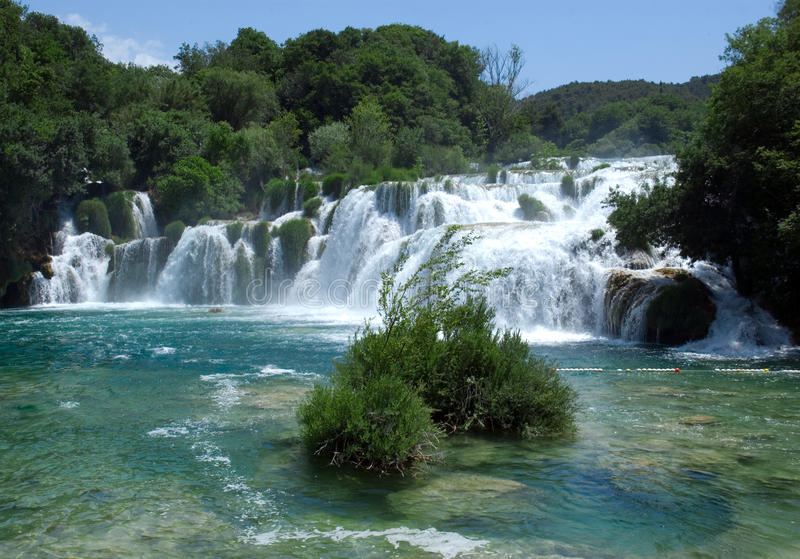 Waterfall in Krka National Park stock images