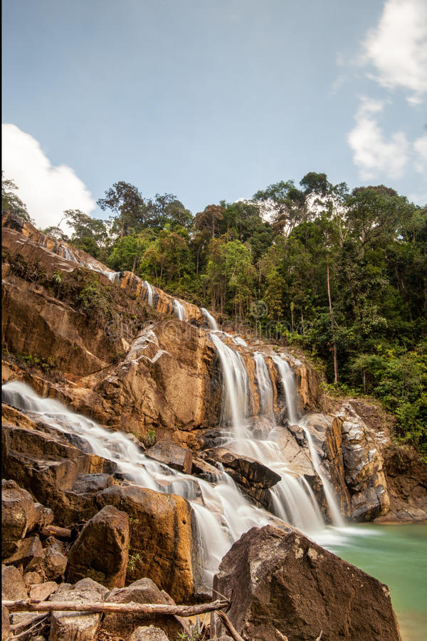 Waterfall at Kuantan, Pahang, Malaysia royalty free stock photo