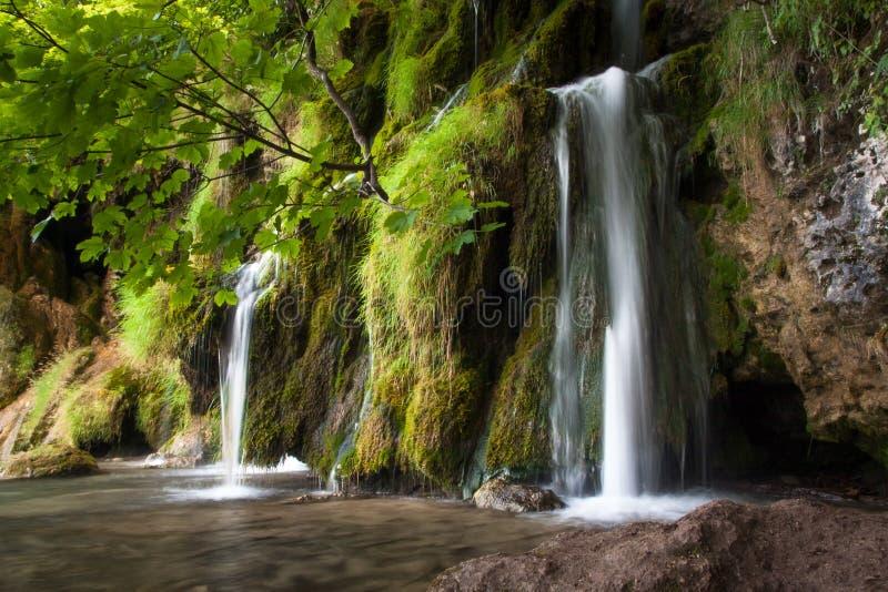 Waterfall, Lake Kozjak, Plitvice Lakes, National Park, Croatia. Waterfall near Lake Kozjak in National park of Plitvice Lakes situated in Northern Croatia royalty free stock photos