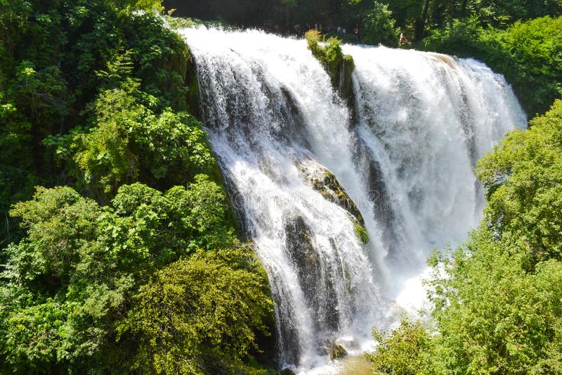 Waterfall landscape. Beautiful nature. royalty free stock images