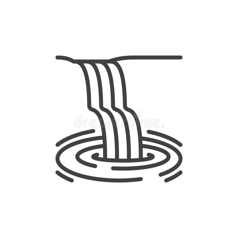 Waterfall line icon vector illustration