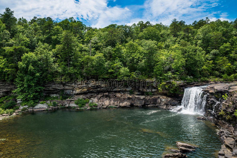 Waterfall at Little River Canyon National Preserve. In northern Alabama royalty free stock images