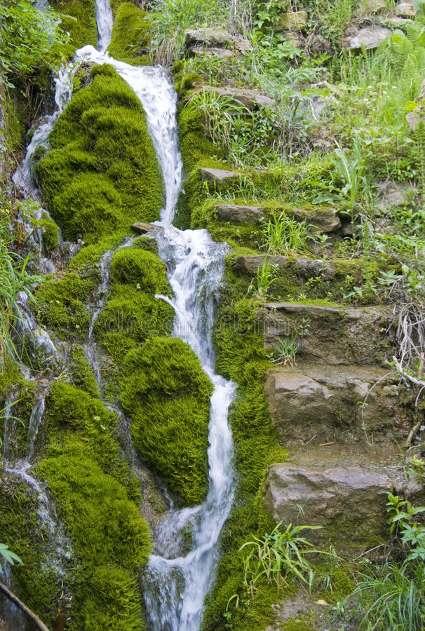 Download Waterfall stock image. Image of flow, mossy, water, fall - 36817783