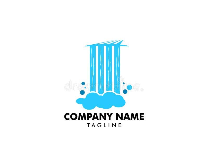Waterfall logo icon vector illustration. Waterfall logo vector illustration