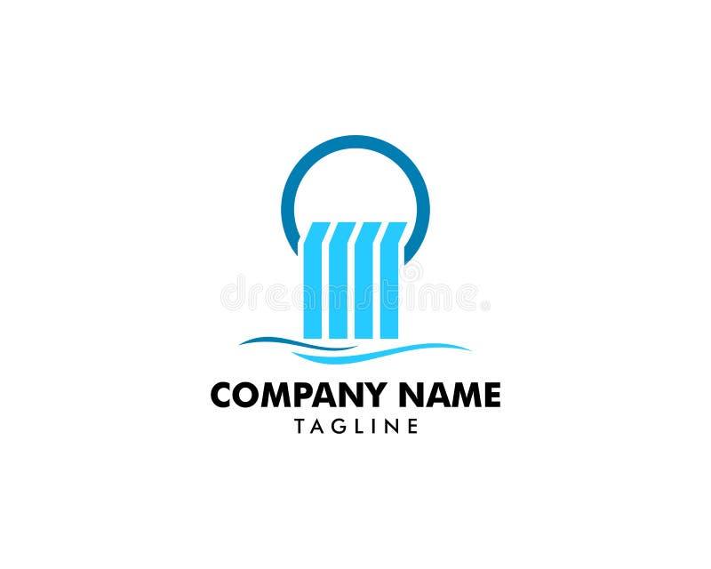 Waterfall logo icon vector illustration. Waterfall logo royalty free illustration