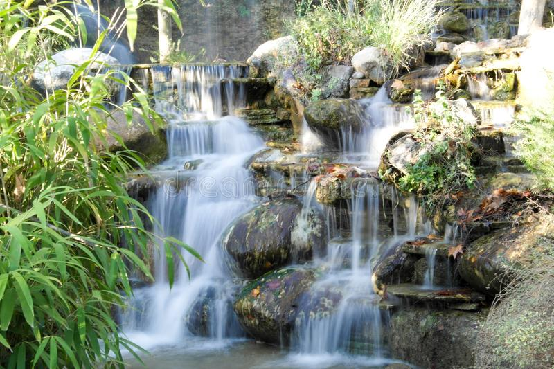 Waterfall Long Exposure. Photo. Autumn Time royalty free stock photography