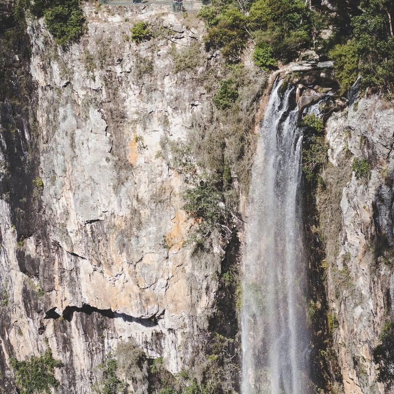 Waterfall lookout stock photos