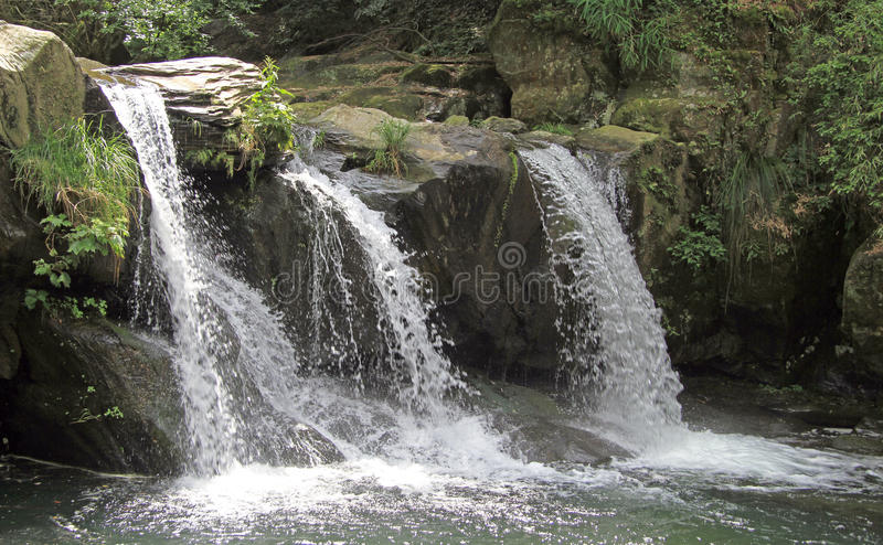 Waterfall in Lushan national park royalty free stock images