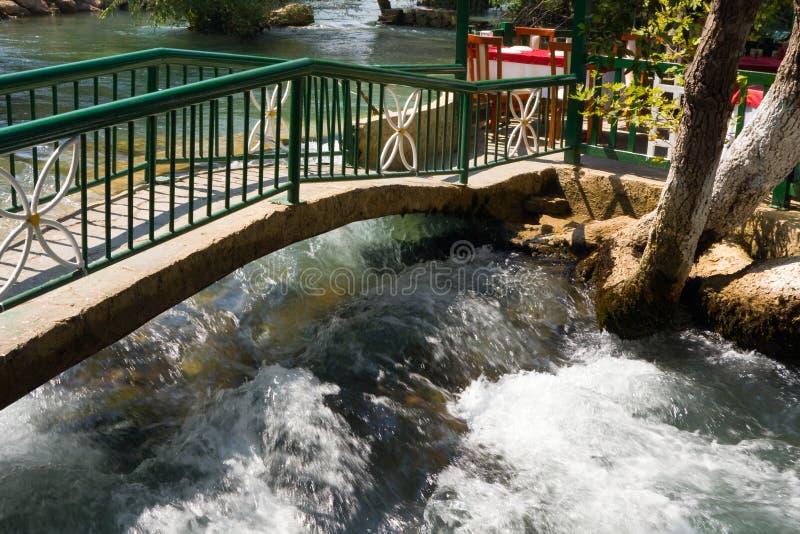 Waterfall Manavgat at Turkey - nature travel background royalty free stock photo