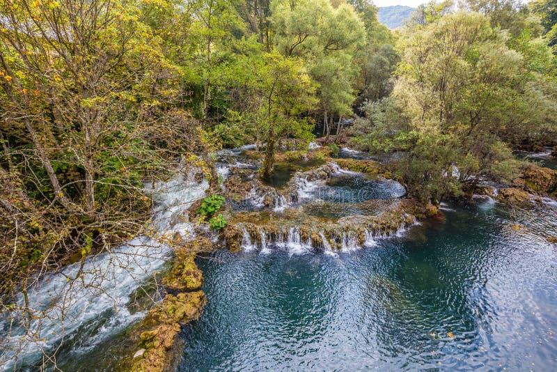 Waterfall In Martin Brod - Bosnia and Herzegovina. Waterfall In Martin Brod - Una National Park, Bihac, Bosnia and Herzegovina, Europe royalty free stock image