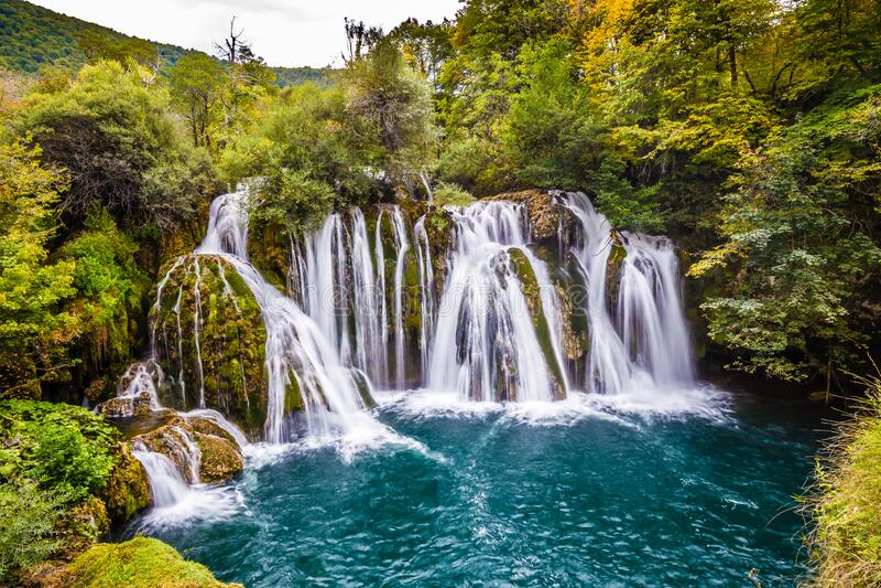 Waterfall In Martin Brod - Bosnia and Herzegovina. Waterfall In Martin Brod - Una National Park, Bihac, Bosnia and Herzegovina, Europe royalty free stock photos