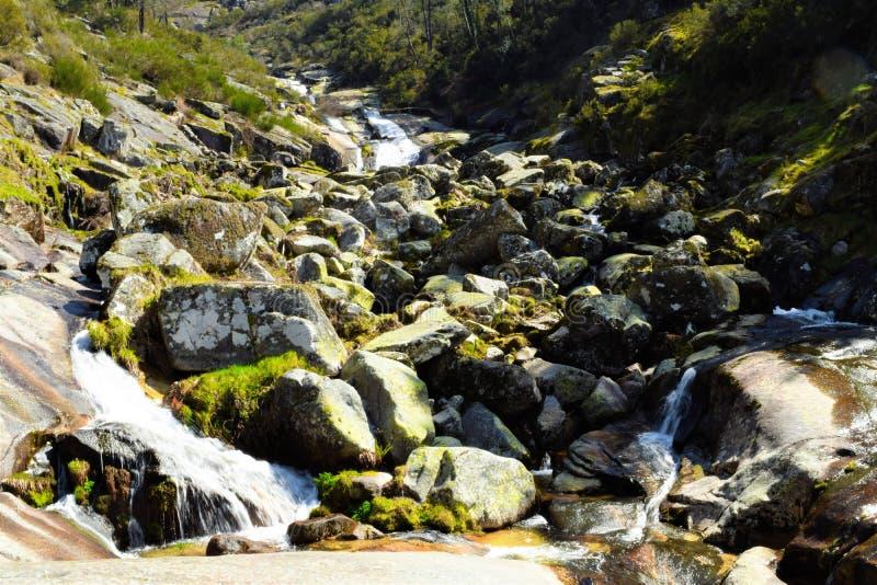 Waterfall in Mondim de Basto royalty free stock image