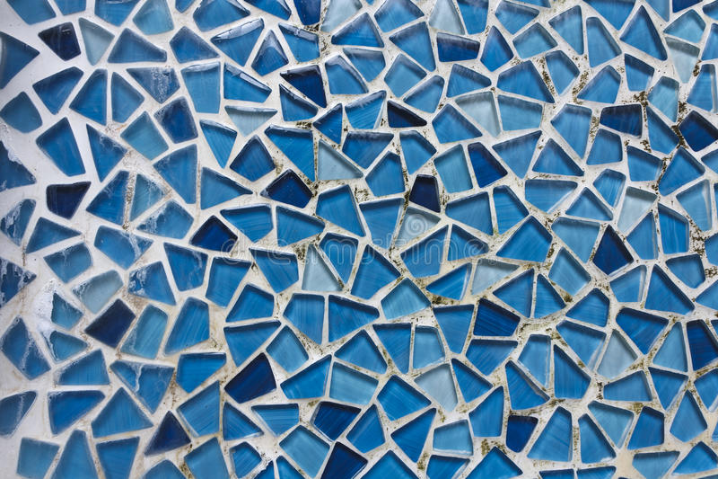 Waterfall mosaic glass wall royalty free stock photography