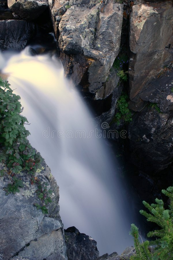 Waterfall in Motion royalty free stock photos