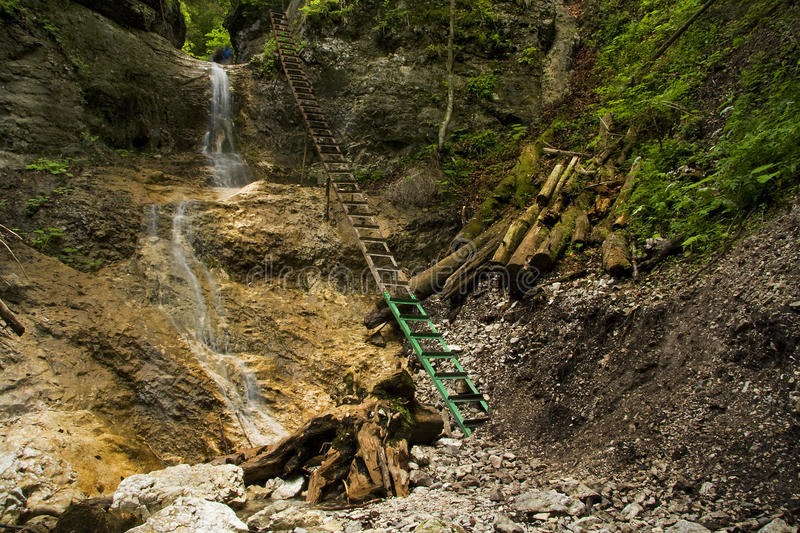 Download Waterfall In Mountain - Slovak Paradise Stock Photo - Image: 12839916