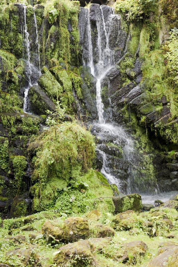 Waterfall in Park of Castle Wilhelmshoehe, Kassel, Germany. Waterfall in Mountainpark Castle Wilhelmshoehe, Kassel, Germany royalty free stock photography