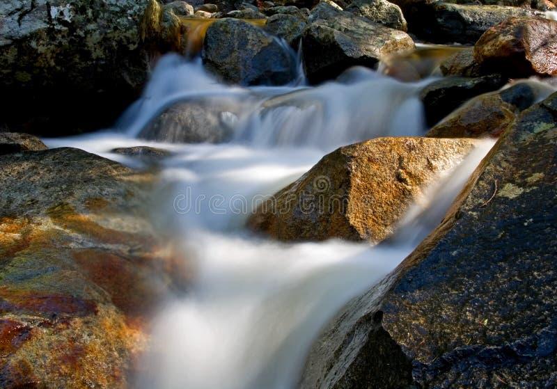 Waterfall movement on the rocks stock photos