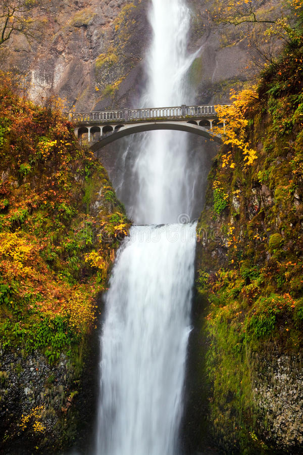 Waterfall - multnomah falls in Oregon stock photos