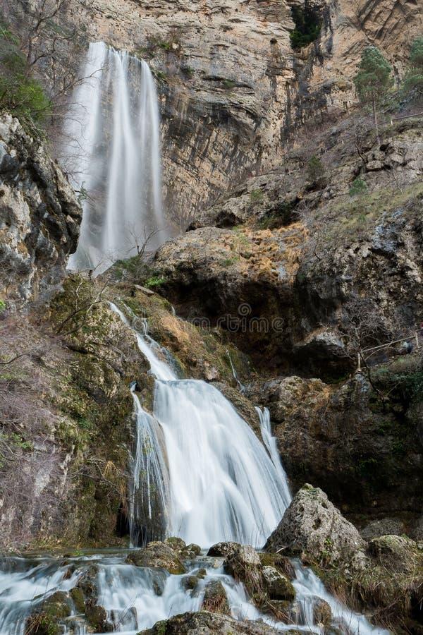 Waterfall in Nacimiento del Rio Mundo Spain. Waterfall in Nacimiento del Rio Mundo, in Riopar Albacete, Spain royalty free stock photography