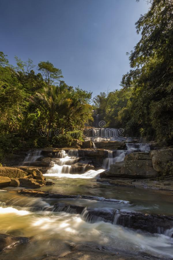 Waterfall nangga ajibarang banyumas indonesia. When the beauty of nangga waterfall ajibarang banyumas central java Indonesia royalty free stock photos