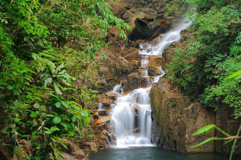 Waterfall in national park. At Chanthaburi Thailand stock images