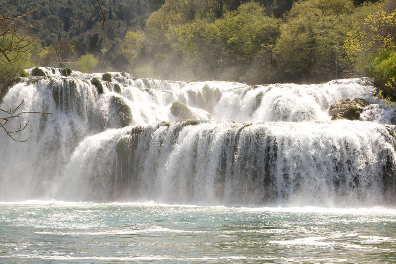 Waterfall in National Park Krka royalty free stock images