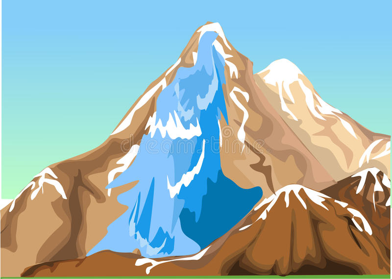 Waterfall. Nature waterfall, waterfall, blue water waterfall,mountain waterfall, nature mountain waterfall royalty free illustration