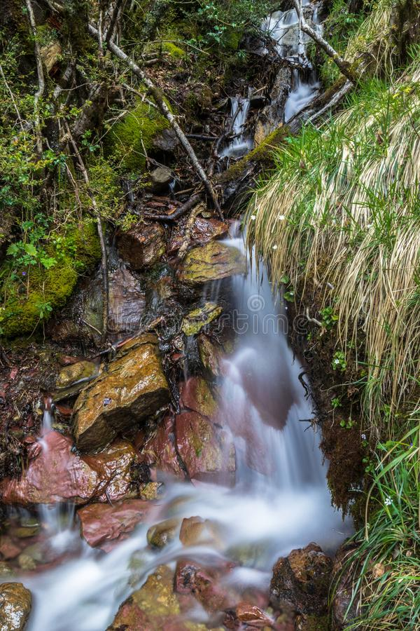 Waterfall nature spain huesca stock photo