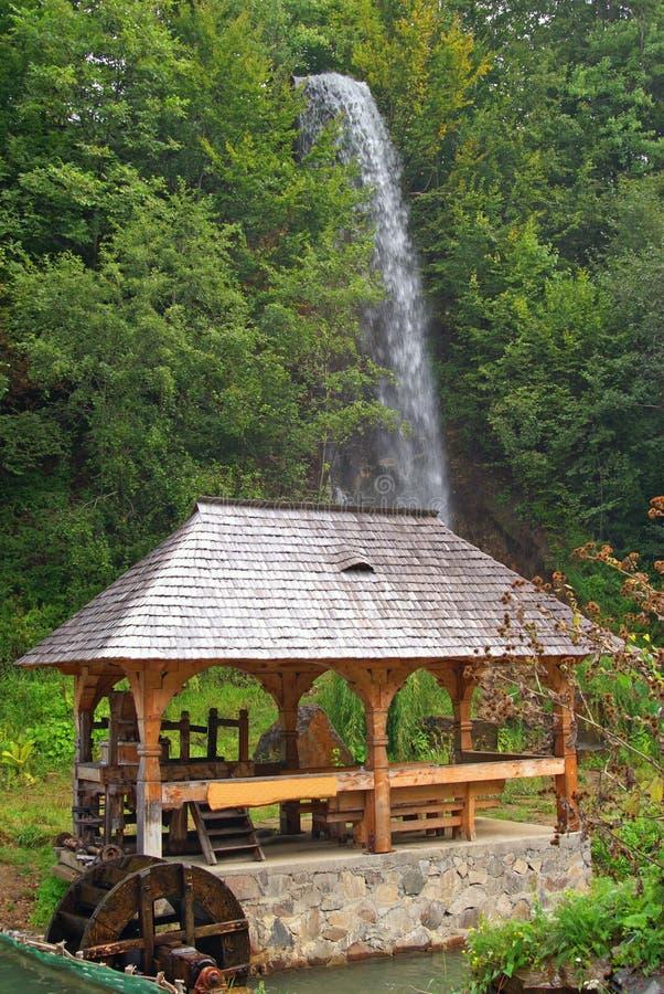 Waterfall Near Camping Stock Photos