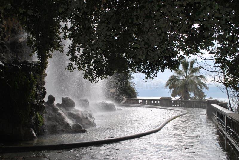 Waterfall in Nice stock photos